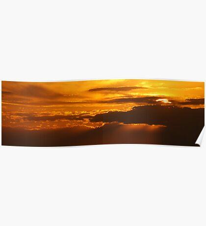 Sunset on Lake Bonny Poster