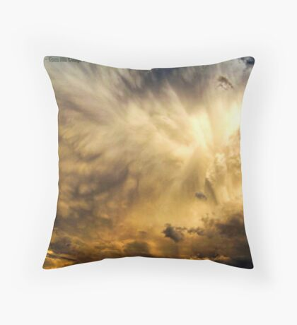 Raging Storm Cell Throw Pillow