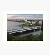 Narrows Bridge, Swan River, Perth  Art Print
