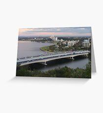 Narrows Bridge, Swan River, Perth  Greeting Card