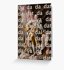 You'll be Back Hamilton King George III Da dat Greeting Card