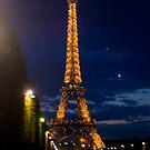 Eiffel Tower, Paris at Night by dury