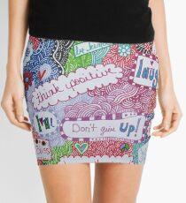Positive Affirmation Doodle Mini Skirt