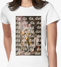 You'll be Back Hamilton King George III Da dat Women's Fitted T-Shirt