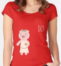 Yes I Do! - Bride Fitted Scoop T-Shirt