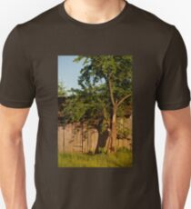 Dilapidated old wooden shack tree Unisex T-Shirt