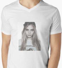 Camiseta para hombre de cuello en v Cara rebelde