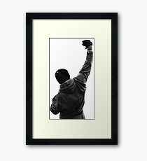 Never give UP! Rocky Balboa Framed Print