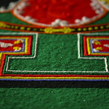 detail, sand mandala. melbourne, australia by bodhiimages