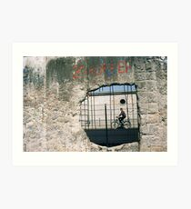 Decisive Moment, Berlin Wall Art Print