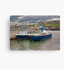 Seahouses Harbour Canvas Print
