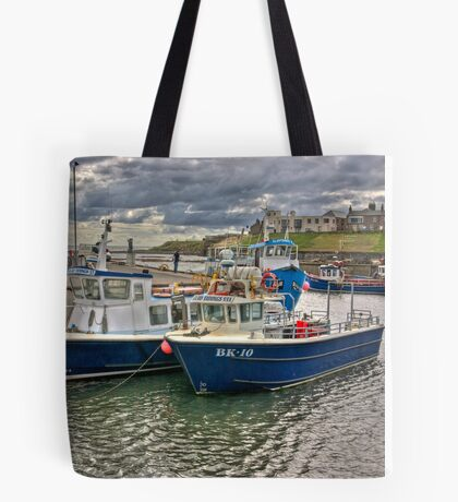 Seahouses Harbour Tote Bag