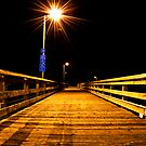 Fishing Dock at Night, Ruston Way  by DiamondCactus