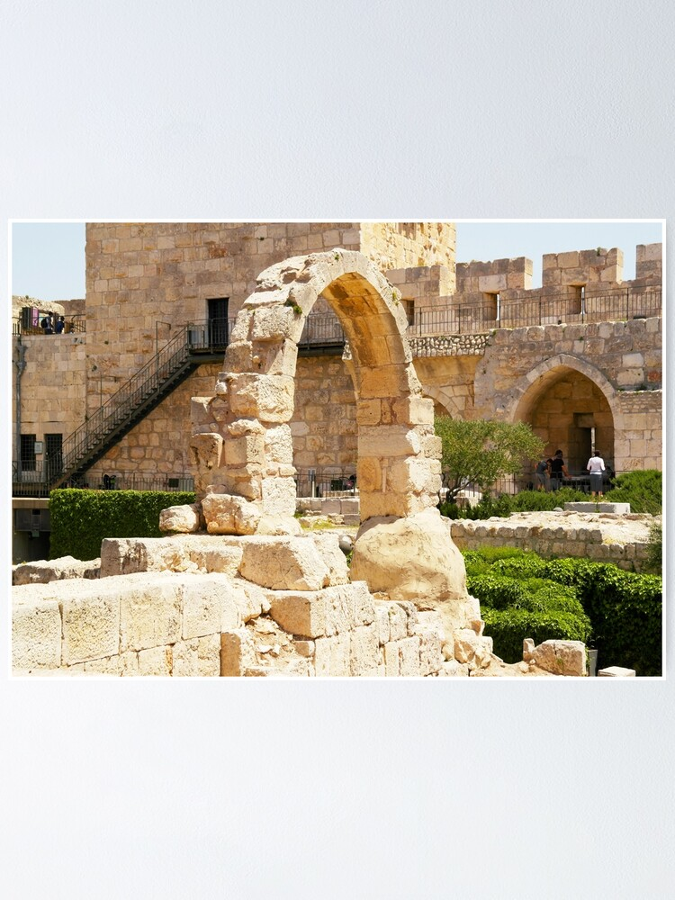 Alternate view of Jerusalem, Israel. Citadel Arch. Poster