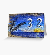 Curbside in California, Blue Greeting Card