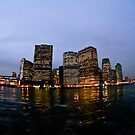 Evening Manhattan Skyline by petitejardim