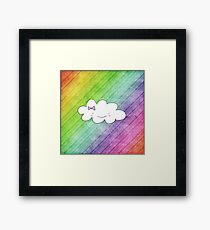 Rainbow cloud Framed Print