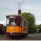 Glasgow Tram 1017 Single Decker  by youmeus