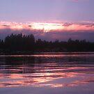 sunset on Lk. Sawyer by pallyduck