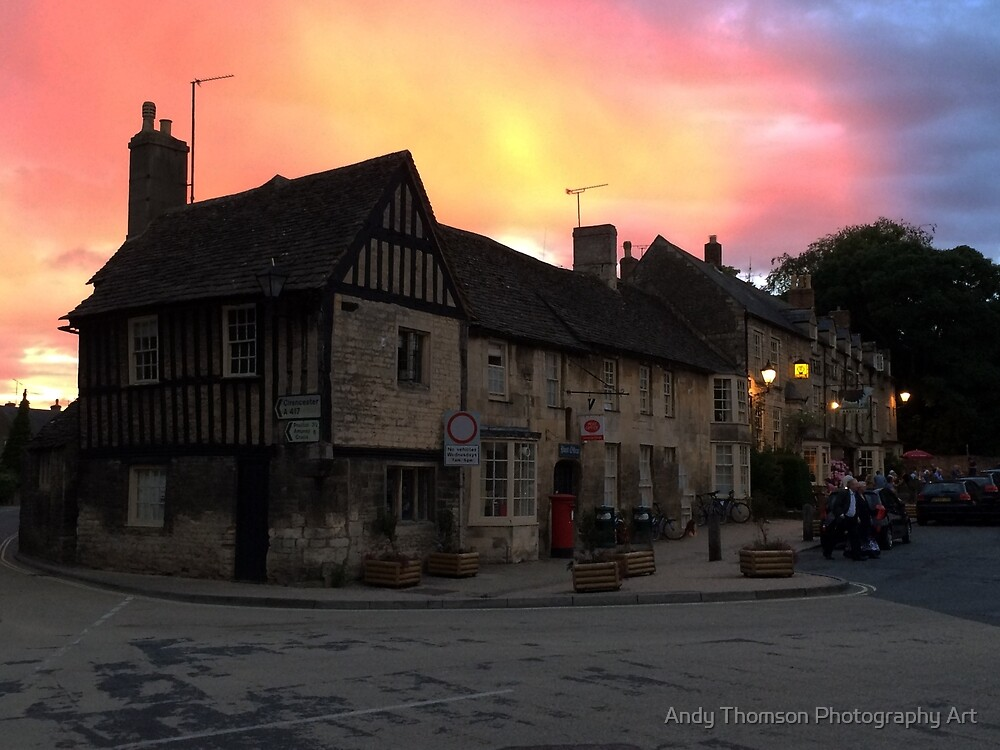 Fairford Village Sunset by Andy Thomson Photography Art