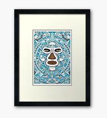 El luchador Azteca Framed Print