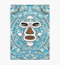 El luchador Azteca Photographic Print