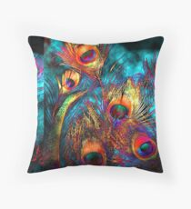 Miss P's Feathers Throw Pillow