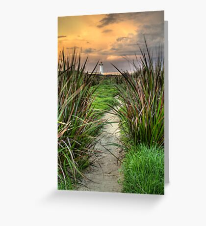 Griffiths Island Lighthouse - Port Fairy Greeting Card