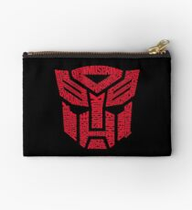 Transformers Autobots Red Zipper Pouch