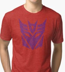 Transformers Decepticons Purple Tri-blend T-Shirt
