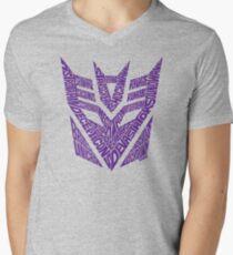 Transformers Decepticons Purple Men's V-Neck T-Shirt