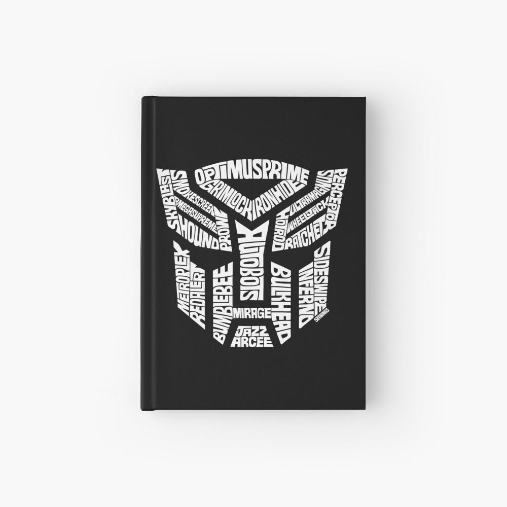 Transformer Autobots White Hardcover Journal