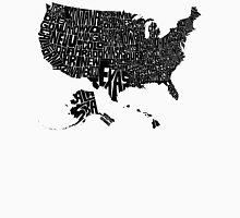 USA States Black Unisex T-Shirt