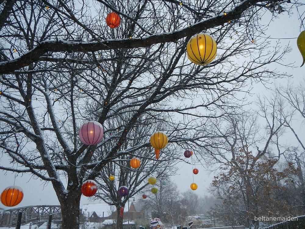 Winter Paper Lanterns by beltanemaiden