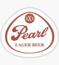 Pearl Lager Beer Sticker