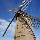Windmill on a blue sky by Cat Brady