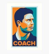 Dan Marino Coach Art Print