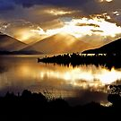 Lake Te Anau sunset. South Island, New Zealand. by Ralph de Zilva
