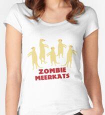 Zombie Meerkats! Women's Fitted Scoop T-Shirt