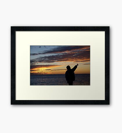 seascapes #273, there's the moon Framed Print