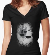 Alice in Limbo Women's Fitted V-Neck T-Shirt
