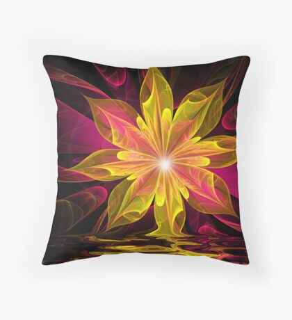 Yellow Reflections Throw Pillow