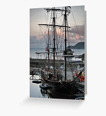 Charlestown a Cornish Harbour Greeting Card