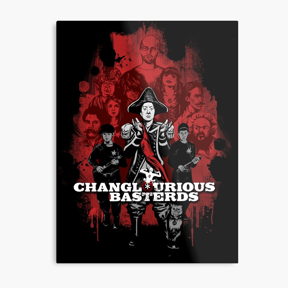 Changlourious Basterds (Any Shirt Colour) Metal Print