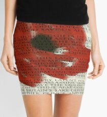 God save the Queen anthem over Poppie. Mini Skirt