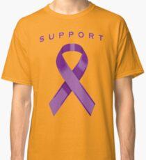 Purple Awareness Ribbon of Support Classic T-Shirt