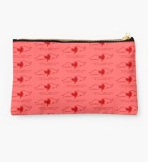 """My """"Ragged Truth"""" Design (with red on pink) Studio Pouch"""