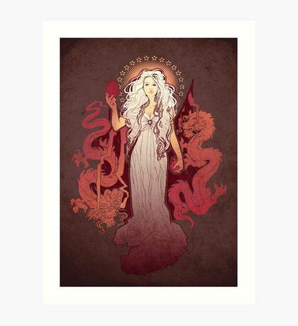Dragon Mother Art Print