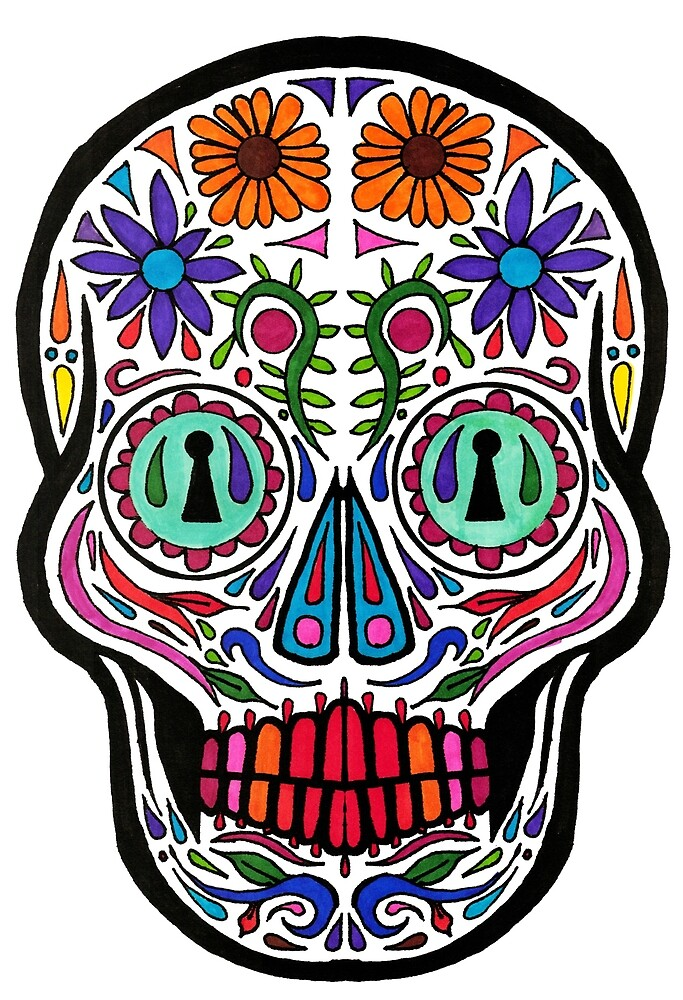 Calavera Color  by walter jones