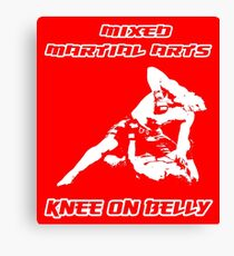 Mixed Martial Arts Knee On Belly Red Canvas Print